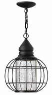 Hinkley 2252BK New Castle Black 15 Inch Tall Nautical Exterior Hanging Lamp - Black
