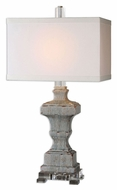 Uttermost 26484-1 San Marcello 31 Inch Tall Light Blue Glaze Table Top Lamp