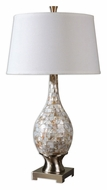 Uttermost 26491 Madre Mother Of Pearl Mosaic 32 Inch Tall Table Top Lamp