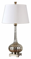 Uttermost 26494 Oristano 33 Inch Tall Fluted Mercury Glass Modern Lamp
