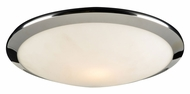 PLC 7657-PC Preston Polished Chrome Flush Mount Ceiling Light - Small