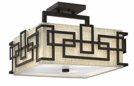 Hinkley 3161OZ Lanza Contemporary Oil Rubbed Bronze Semi Flush Lighting