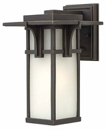 Hinkley 2230OZ Manhattan 11 Inch Tall Oil Rubbed Bronze Outdoor Wall Lamp - Small