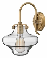 Hinkley 3171 Congress Contemporary 13 Inch Tall Clear Glass Sconce Lighting