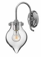 Hinkley 3177 Congress Modern 14 Inch Tall Wall Lighting Fixture - Clear Glass