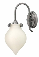 Hinkley 3172 Congress Transitional 14 Inch Tall Opal Glass Wall Light Sconce