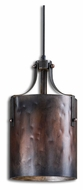 Uttermost 21972 Akron Washed Copper Cylinder Mini Pendant Lighting