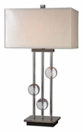 Uttermost 26280-1 Rodeshia 32 Inch Tall Modern Table Lamp With Crystal Balls