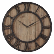 Uttermost 06344 Powell Aged Wooden 30 Inch Diameter Wall Clock