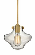 Hinkley 3129 Congress Mini Clear Blown Glass Mini Lighting Pendant With Finish Options