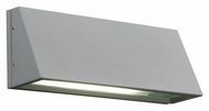 PLC 1306-SL Origo Outdoor 11 Inch Wide Silver Wall Light Fixture