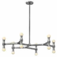 Fredrick Ramond FR41946PAL Karma Polished Aluminum 30 Inch Diameter Contemporary Chandelier Lighting - Small