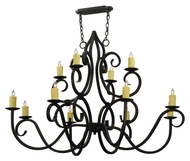 Meyda Tiffany 132028 Clayton 12 Candle Traditional Style Lighting Chandelier