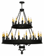 Meyda Tiffany 138678 Yosemite 27 Candle Large 48 Inch Diameter Costella Black Chandelier Light