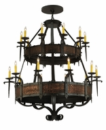 Meyda Tiffany 139252 Costello 2 Tier Oil Rubbed Bronze Candelabra Chandelier
