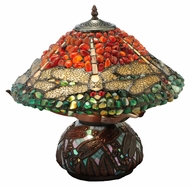 Meyda Tiffany 138101 Dragonfly Polished Jasper 16 Inch Tall Tiffany Table Lighting