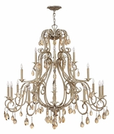 Hinkley 4779SL Carlton 21 Candle Silver Leaf Finish 45 Inch Diameter Dining Room Chandelier
