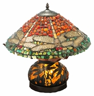 Meyda Tiffany 138102 Dragonfly Polished Jasper Tiffany Lamp - 18 Inches Wide