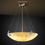 Justice Design CLD-9624-35 U-Clips Medium Cloud Glass Drop Ceiling Lighting - Round