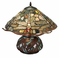Meyda Tiffany 138103 Dragonfly Cut Jasper 16 Inch Tall Table Top Tiffany Lamp