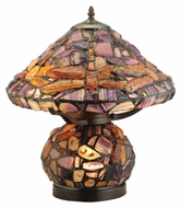Meyda Tiffany 138107 Dragonfly Jadestone 18 Inch Tall Tiffany Table Lamp Lighting