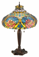Meyda Tiffany 138108 Dragonfly Rose 26 Inch Tall Tiffany Lamp