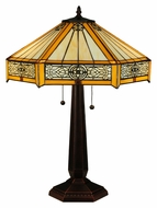 Meyda Tiffany 138116 Peaches 24 Inch Tall Tiffany Lamp Lighting
