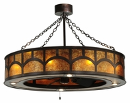 Meyda Tiffany 138522 Mission Hill Top Amber Mica 44 Inch Diameter Transitional Hanging Light