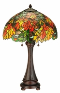 Meyda Tiffany 138122 Lamella 25 Inch Tall Tiffany Art Glass Table Lighting