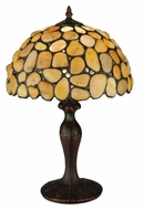 Meyda Tiffany 138123 Jasper Yellow 19 Inch Tall Tiffany Lamp Lighting