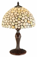 Meyda Tiffany 138124 Jasper Opal 12 Inch Wide Tiffany Bedroom Table Lamp