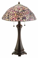 Meyda Tiffany 138125 Jasper Purple 25 Inch Tall Tiffany Lamp With Pull Chain