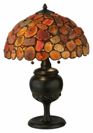 Meyda Tiffany 138126 Jasper Red Tiffany Art Glass Bed Room Table Lamp