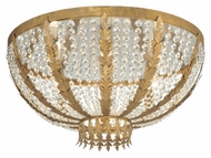 Meyda Tiffany 140850 Chrisanne 32 Inch Diameter Pompeii Gold Crystal Flush Lighting