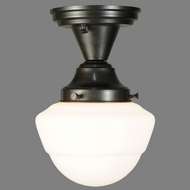 Meyda Tiffany 142643 Schoolhouse 10 Inch Tall Semi Flush Ceiling Light