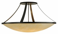Meyda Tiffany 142828 Urban 8 Lamp 44 Inch Diameter Timeless Bronze Semi Flush Lighting
