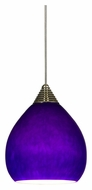 Cal UPL-708 Unipack 4 Inch Tall Braided Steel Cord LED Glass Mini Pendant