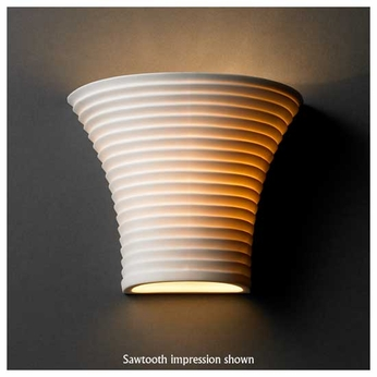 Justice Design POR8810 Round Flared Small Porcelain Wall Sconce