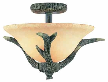 Trans Globe 7087 The Olde World Rustic Style Semi-Flush Ceiling Light