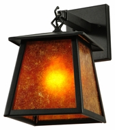 Meyda Tiffany 141863 Seneca Amber Mica 12 Inch Tall Wall Lighting Sconce - Craftsman