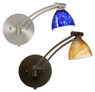 Besa Divi Single Swing-arm Wall Lamp with Huge Variety of Glass Options