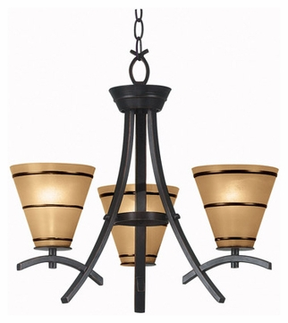 Kenroy Home 90083ORB Wright 3-Lamp Chandelier