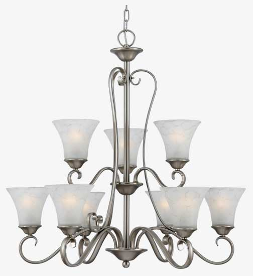 Quoizel dh5009an duchess 9 light chandelier in antique nickel loading zoom