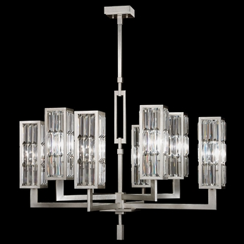 Fine Art Lamps 815440 Crystal Enchantment 8 Lamp 40 Inch Diameter Hanging Chandelier Lighting