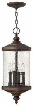 Hinkley 1752VZ Barrington Hanging Candle Lantern Outdoor Ceiling Light - Bronze