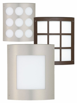 Besa Moto 11 Indoor/Outdoor Wall Sconce with Grid, Square, or Circle Design