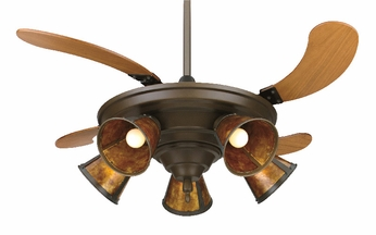 Fanimation Fans FP825OB-a Air Shadow 5 Light Folding Ceiling Fan