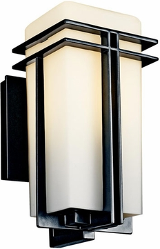 Kichler 49200bkfl tremillo art deco fluorescent outdoor for Art deco exterior light fixtures