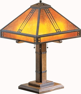 Arroyo Craftsman PTL-15 Prairie Craftsman Table Lamp - 23.125 inches tall