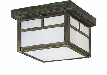 Arroyo Craftsman MCM-8 Mission Craftsman Outdoor Flush-Mount Ceiling Fixture - 8.375 inches wide